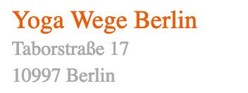 Yogawege Standort  Berlin