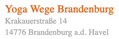 Yogawege Standort  Brandenburg