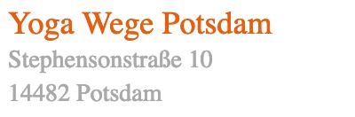 Yogawege Standort Potsdam